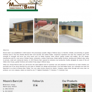 Moore's Barn Timber Products